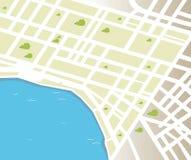 Mapa genérico da cidade do vetor Imagens de Stock Royalty Free