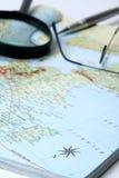 Mapa geográfico Fotos de Stock Royalty Free