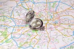 Mapa geográfico Imagem de Stock Royalty Free