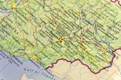 Mapa geográfico de la ciudad Donets& x27 de Ucrania del país europeo; área de ka Fotos de archivo