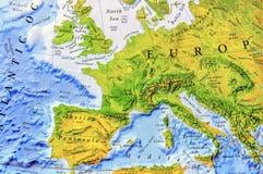 Mapa geográfico do fim de Europa Foto de Stock