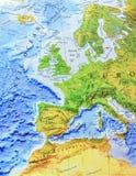 Mapa geográfico do fim de Europa Foto de Stock Royalty Free
