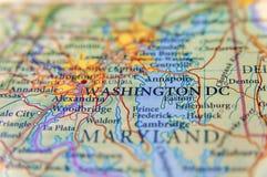 Mapa geográfico do fim do Washington DC Imagem de Stock Royalty Free