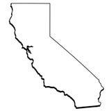 Mapa geral de Califórnia Imagens de Stock Royalty Free