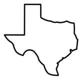Mapa geral de Texas Imagem de Stock