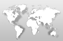 Mapa global do mapa do mundo Foto de Stock Royalty Free