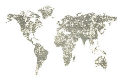Mapa global isolado Fotografia de Stock Royalty Free