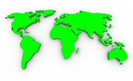 Mapa global - verde no fundo branco Imagem de Stock
