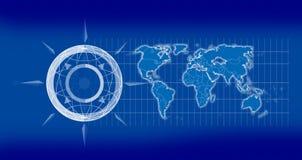 mapa globu 2 d Fotografia Royalty Free