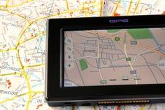 mapa gps Zdjęcia Stock