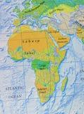 Mapa gráfico del cierre de África imágenes de archivo libres de regalías
