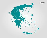 mapa greece Obraz Stock