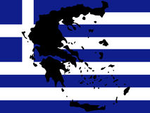 mapa greece Zdjęcia Royalty Free
