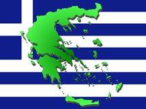 mapa greece Zdjęcie Stock