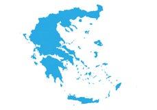 mapa greece Wysokość wyszczególniająca wektorowa mapa - Greece Zdjęcie Royalty Free