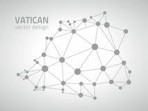 Mapa gris del contorno del vector del Vaticano ilustración del vector
