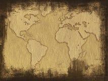 mapa grungy obrazy stock