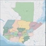 Mapa Gwatemala zdjęcie royalty free