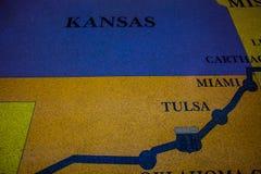 Mapa histórico da rota 66 feito do assoalho de mosaico do mosaic/com projeto do mapa foto de stock