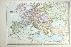 Mapa histórico de Europa Fotografia de Stock Royalty Free