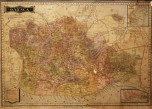Mapa histórico de Oaxaca, México Fotografía de archivo