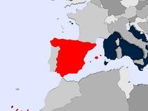 mapa Hiszpanii Zdjęcia Royalty Free