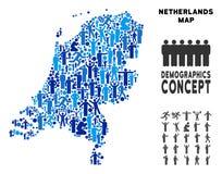 Mapa holandés del Demographics ilustración del vector