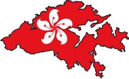 Mapa Hong Kong ilustração do vetor