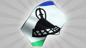 Mapa i flaga Lesotho Bezszwowy looping ilustracji
