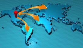 Mapa Royalty Free Stock Photography