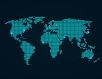 mapa ilustracyjny stary świat royalty ilustracja