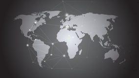 mapa ilustracyjny stary świat Globalnej sieci związek, Abstrakcjonistyczny Nowożytny Kreatywnie pojęcie Fotografia Royalty Free