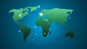mapa ilustracyjny stary świat Globalnej sieci związek, Abstrakcjonistyczny Nowożytny Kreatywnie pojęcie Dla strony internetowej, Fotografia Royalty Free