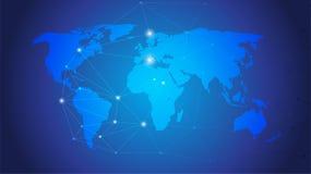 mapa ilustracyjny stary świat Globalnej sieci związek, Abstrakcjonistyczny Nowożytny Kreatywnie pojęcie Dla strony internetowej, Zdjęcie Stock