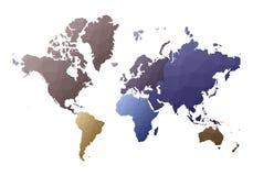 mapa ilustracyjny stary ?wiat śliczni niscy poli- stylowi kontynenty royalty ilustracja