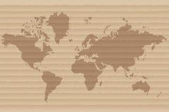 mapa ilustracyjny stary świat Obrazy Stock