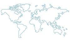 mapa ilustracyjny stary świat Fotografia Stock