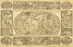 mapa ilustracyjny stary świat Zdjęcie Royalty Free