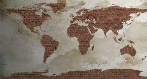 mapa ilustracyjny stary świat Zdjęcie Stock
