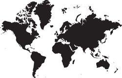mapa ilustracyjny stary świat Obraz Royalty Free