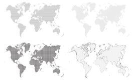mapa ilustracyjny stary świat Obraz Stock