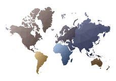 mapa ilustracyjny stary ?wiat bajecznie niscy poli- stylowi kontynenty royalty ilustracja