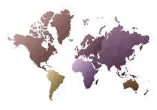 mapa ilustracyjny stary ?wiat delikatni niscy poli- stylowi kontynenty royalty ilustracja