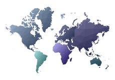 mapa ilustracyjny stary ?wiat przyzwoicie niscy poli- stylowi kontynenty ilustracji