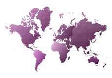 mapa ilustracyjny stary ?wiat uczciwi niscy poli- stylowi kontynenty royalty ilustracja