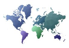 mapa ilustracyjny stary ?wiat uroczy niscy poli- stylowi kontynenty royalty ilustracja