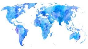 mapa ilustracyjny stary świat Ziemia Zdjęcie Stock