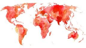 mapa ilustracyjny stary świat Ziemia Obraz Stock