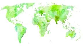 mapa ilustracyjny stary świat Ziemia Zdjęcie Royalty Free