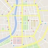Mapa imaginário da cidade das cores claras Imagem de Stock Royalty Free